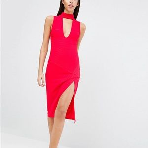 ASOS Red Bandage Midi Dress